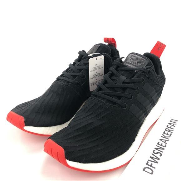 reputable site 86e63 2d781 Adidas NMD R2 Pk Men s Sizes Comfy Shoes Black